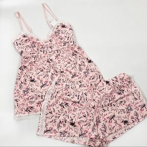 Marilyn Monroe Medium Pink Floral Sleep Set